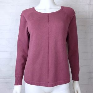 French Connection Purple Pink Soft Knit Sweater